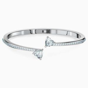 Swarovski bangle attract soul heart bangle